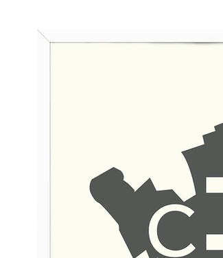 Kortkartellet Kortkartellet Witte  Lijst  50x70
