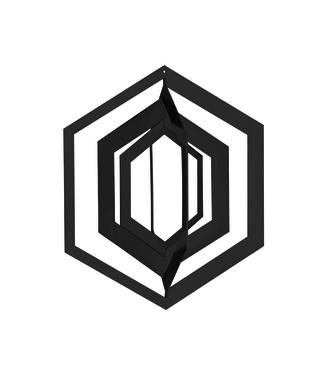 Strups Strups Papieren 3D Ornament Hexagon Zwart (set van 2)