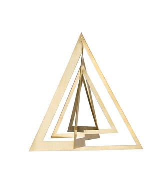Strups Strups Messing 3D Ornament Triangel