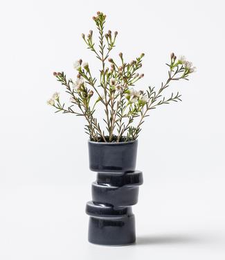 Lars Rank Keramik Lars Rank Keramik Handmade Vase Stacked Black Mini