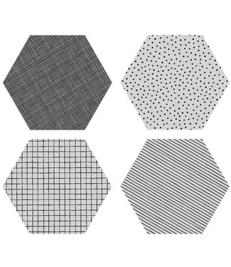 by May By May Silicone Coasters Lightgrey 4p