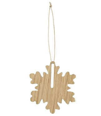 by Wirth by Wirth Christmas Hang on Oak Snowflake