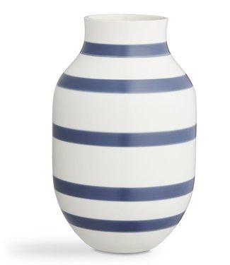 Kähler Design Kähler Design Omaggio Vase Steel blue Stripe H305mm