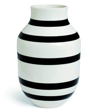 Kähler Design Kähler Design Omaggio Vase Black Stripe H305mm