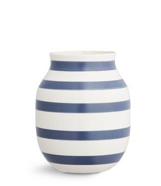 Kähler Design Kähler Design Omaggio Vase Steel blue Stripe H200mm
