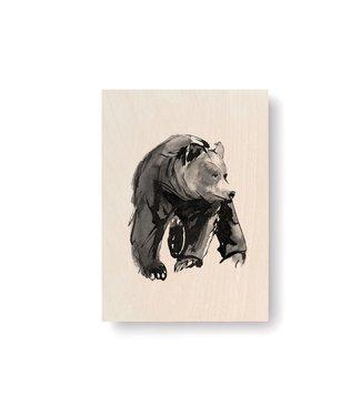 Teemu Järvi Teemu Järvi Plywood Card Bear 10x15cm
