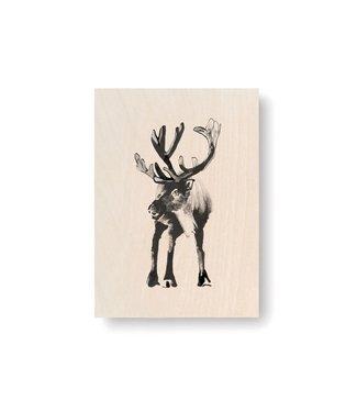Teemu Järvi Teemu Järvi Plywood Card Reindeer 10x15cm