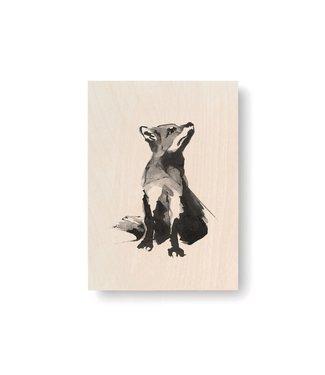 Teemu Järvi Teemu Järvi Plywood Card Fox 10x15cm