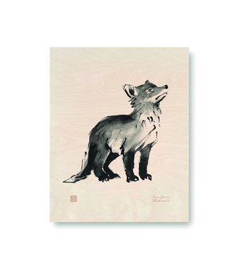 Teemu Järvi Teemu Järvi Plywood Poster Fox Cub 24 x 30 cm