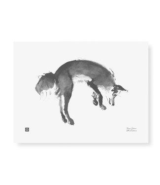 Teemu Järvi Teemu Järvi Poster Springende Vos 30 x 40 cm