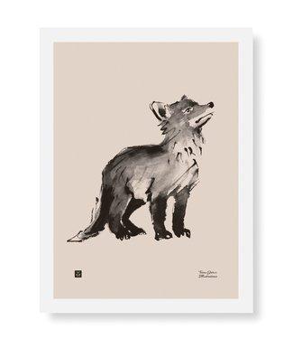 Teemu Järvi Teemu Järvi Poster Fox cub 30 x 40 cm
