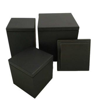 SEJ Design SEJ Design Zwart houten deksel voor bakje 8 x 8 x 6/8/12cm