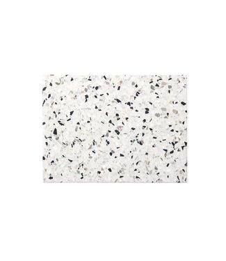 OK Design OK Design Confetti Terrazzo Plank Zwart Wit Large