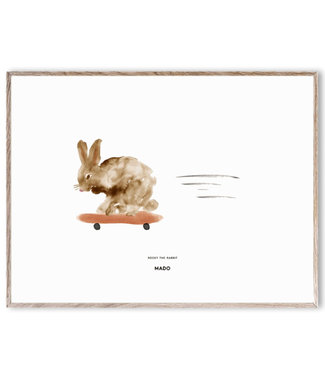 Paper Collective MADO Poster Rocky het konijn  30 x 40 cm