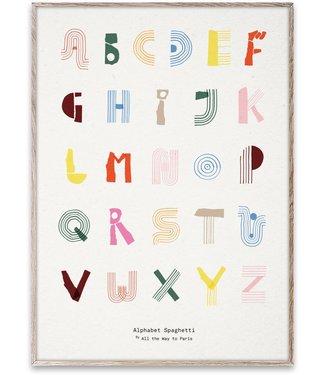 Paper Collective MADO ABC Alphabet Spaghetti poster 50 x 70 cm