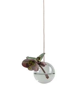 Studio About Studio About Flower bubble glazen vaasje 8cm smoke