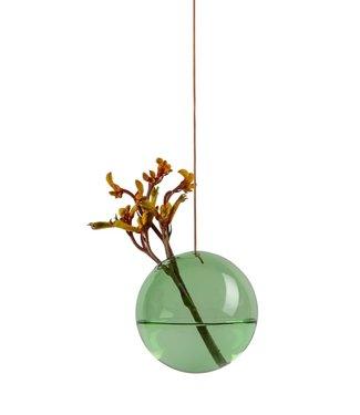 Studio About Studio About Flower bubble glazen vaasje 11cm groen