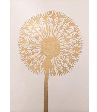Monika Petersen Monika Petersen Lino Print Gold Dandelion Nude A3