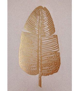 Monika Petersen Monika Petersen Lino Print Gold Feather Rose mix A4