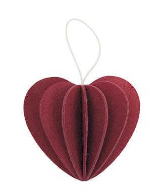 LOVI Lovi Hartje donker rood - 2 formaten - berkenhout DIY pakketje