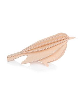 LOVI Lovi Vogel naturel - 3 formaten - berkenhout 3D-dier DIY pakketje