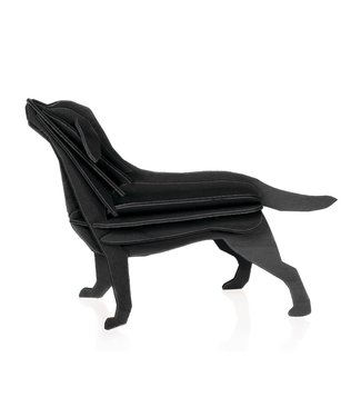 LOVI Lovi Labrador black wood Birch plywood 3D-animal DIY package
