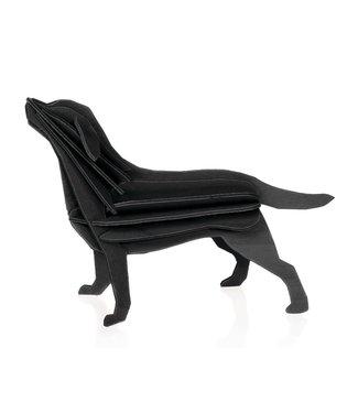 LOVI Lovi Labrador zwart - berkenhout 3D-dier DIY pakketje