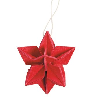 LOVI Lovi Ster Rood 5cm - berkenhout DIY pakketje