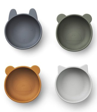 Liewood Liewood Iggy Silicone Bowls 4 Pack Blue mix
