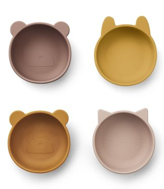 Liewood Liewood Iggy Silicone Bowls 4 Pack Rose mix