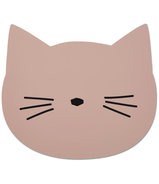 Liewood Liewood Roze Siliconen Placemat Kat