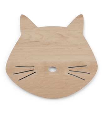 Liewood Liewood Troy Wooden Lamp Cat Natural