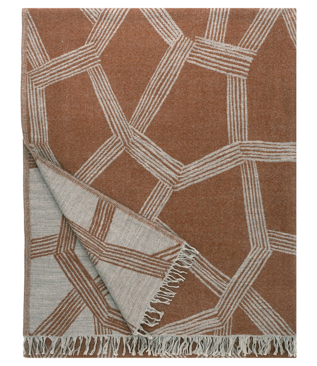 Lapuan Kankurit Lapuan Kankurit Puikko wool plaid 140x180 Terracotta