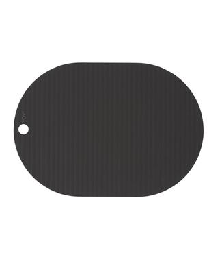 OYOY OYOY Ribbo Placemats Zwart Ovaal Set Van 2