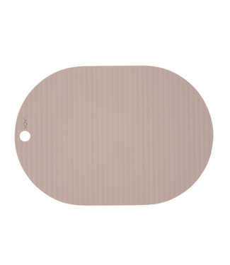 OYOY OYOY Ribbo Placemats Roze Ovaal Set Van 2