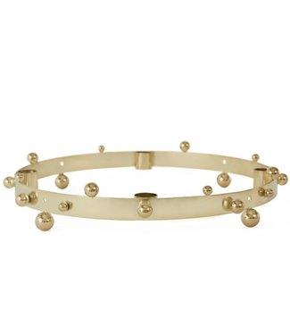 OYOY OYOY The Pearl Advent Candelholder Brass