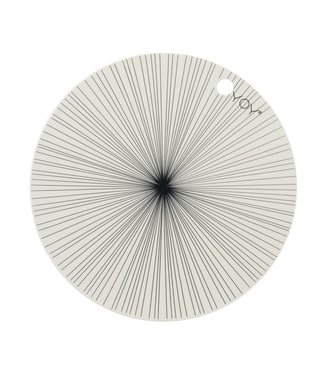 OYOY OYOY Placemat Offwhite with Grey Stripe Round