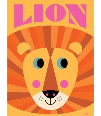 OMM Design OMM Design Poster Leeuw gezicht 50x70cm