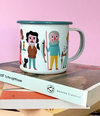 OMM Design OMM design Enamel Cup   Book lover