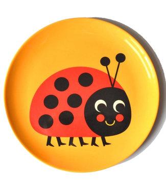 OMM Design OMM design Ladybug Melamine Plate