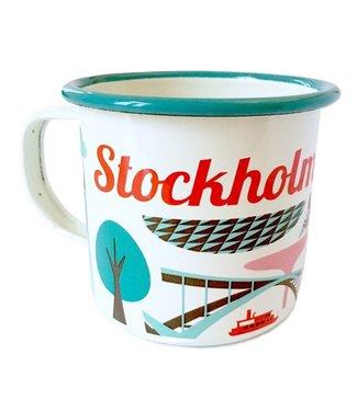 OMM Design OMM design Emaillen Beker Stockholm Turquoise