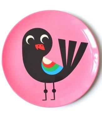 OMM Design OMM design Bird Pink Melamine Plate