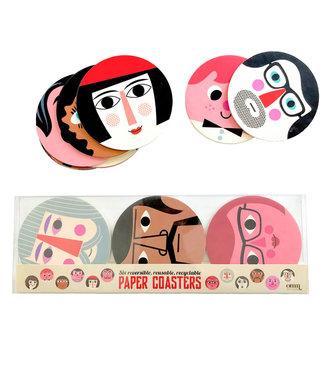 OMM Design OMM design Faces coaster set of 6