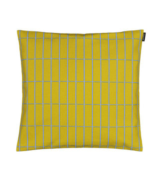 Marimekko Marimekko Tiiliskivi cushion cover 40x40cm Lime / Light blue