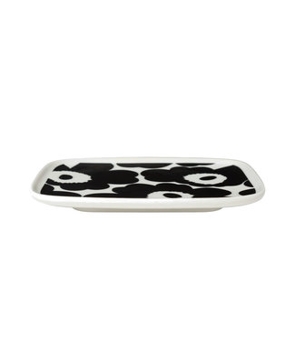 Marimekko Marimekko Unikko plate 15x12cm Black white
