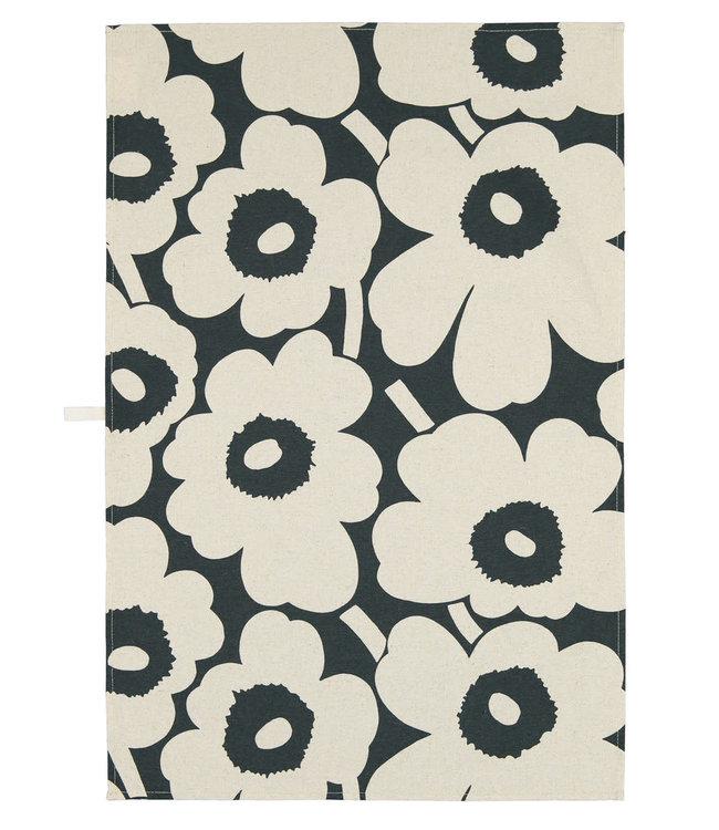 Marimekko Marimekko Unikko Tea Towel Dark Green Linen-Cotton