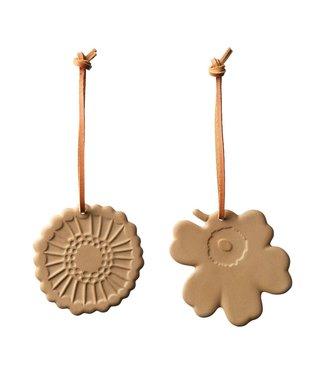 Marimekko Marimekko Christmas hanging ornaments terra set of 2 ceramics