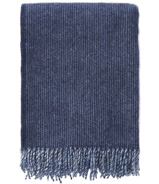 Klippan Klippan Shimmer plaid 130x200 blue melange made of 100% eco lambs wool