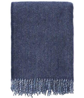 Klippan Klippan Shimmer wollen plaid 130x200 blauw melange van 100% eco lamswol