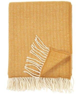 Klippan Klippan Tippy plaid 130x180 25% Cashmere wool & 75% merino wool mustard